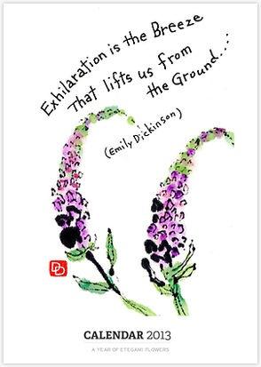 Etegami Flower Calender available on RedBubble