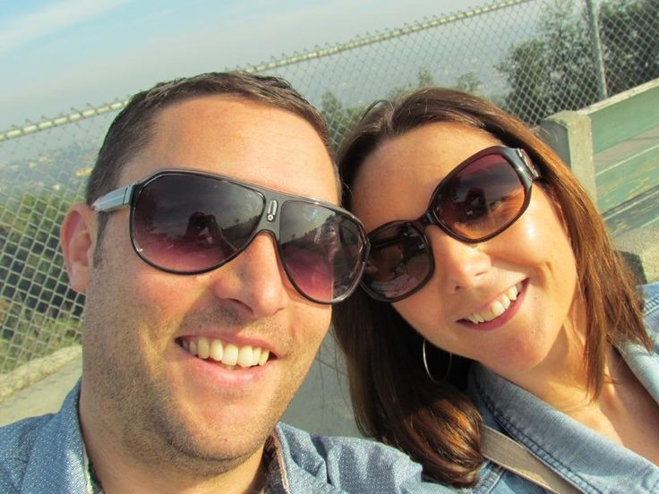 Me and the misses, (Kerry) sat outside the Griffith observatory LA Dec 2012