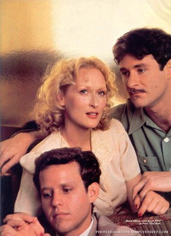 "Peter MacNicol, Meryl Streep, and Kevin Kline in ""Sophie's Choice"" (1982)  Meryl Streep - Best Actress Oscar 1982"