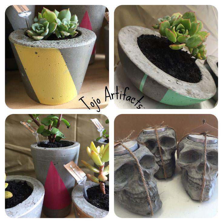 Tojo Artifacts concrete planters