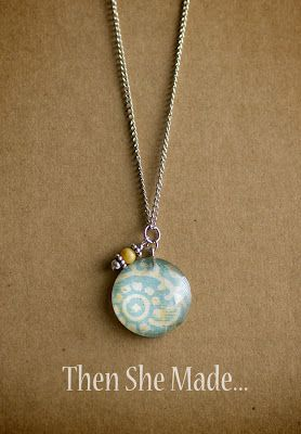 Then she made...: Crystal Drop Pendants Tutorial.. I love the little beads next to them.