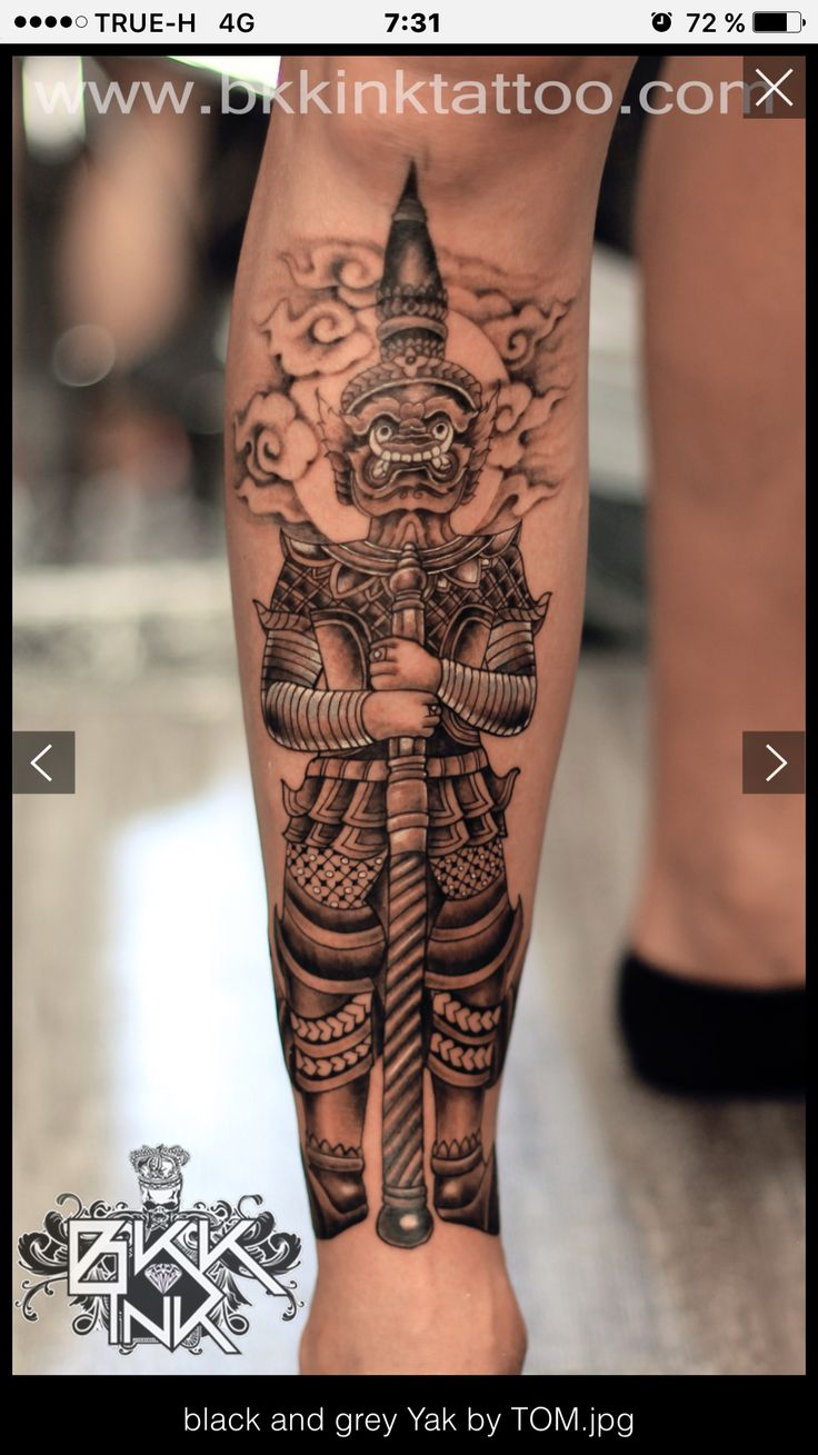 Thai mythology tattoo