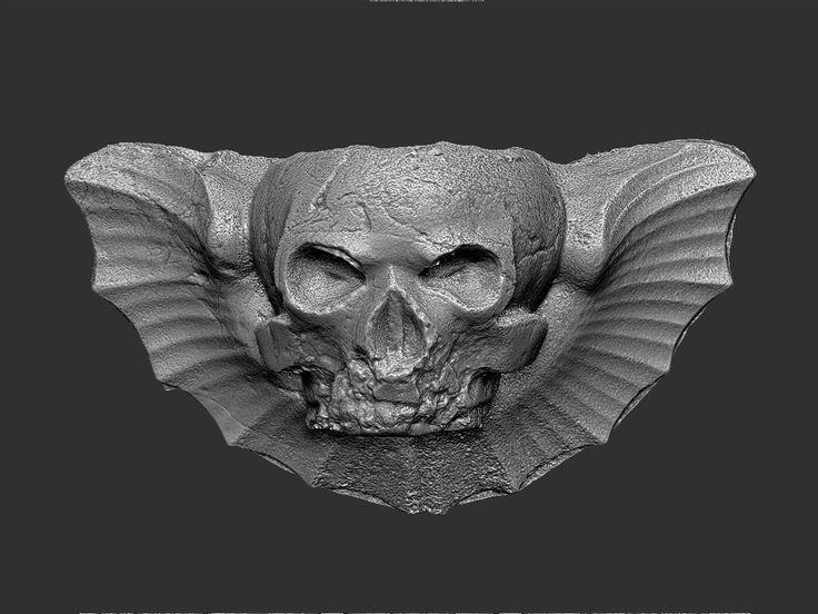 3d max gothic skull