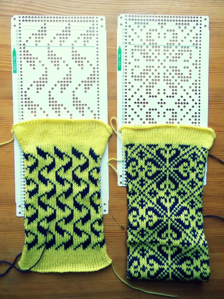 Fairisle samples - knit on Toyota KS901