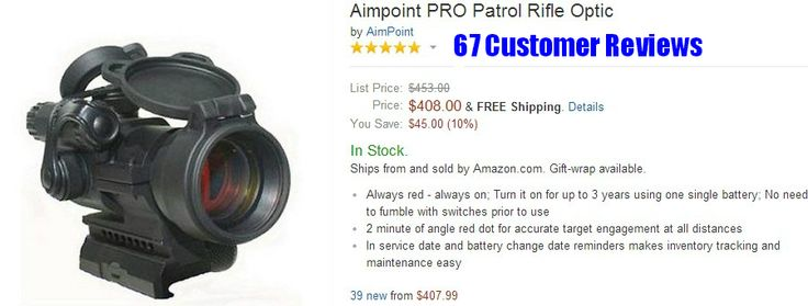 AR 15 Scopes - Aimpoint PRO Patrol Rifle Optic