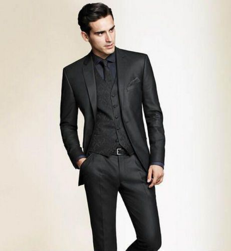 Slim Fit Black Men Groom Suit Tuxedos Formal Groomsmen Wedding suits Custom Made | Clothing, Shoes & Accessories, Wedding & Formal Occasion, Men's Formal Occasion | eBay!