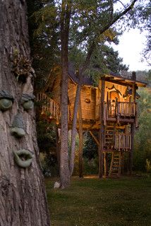 Crystal River Tree House - rustic - kids - denver - by Green Line Architects