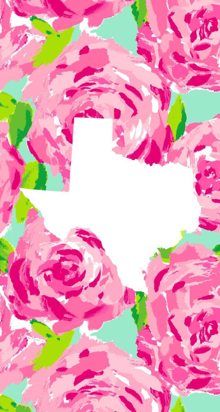 Lilly Pulitzer Texas iPhone wallpaper! Enjoy Ü