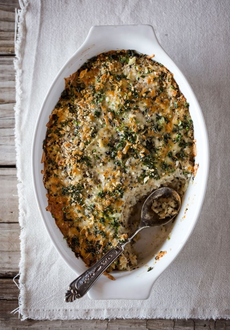 Spicy Cauliflower Gratin with Crunchy Topping I foolproofliving.com