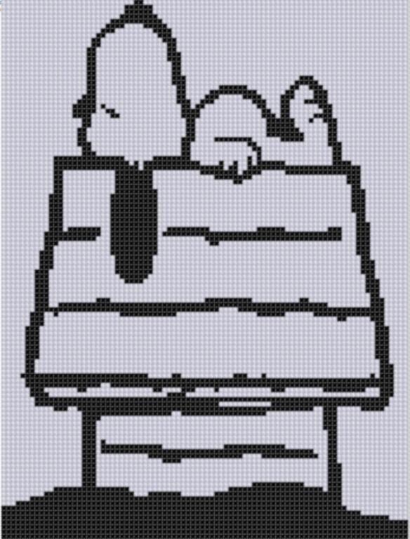 Snoopy Dog House Cross Stitch by bracefacepatterns - Craftsy