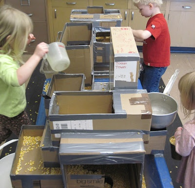 SAND AND WATER TABLES with levels and boxes