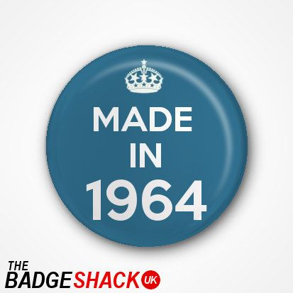 50th Birthday Pin Badge or Magnet. Available as by TheBadgeShackUK, £0.99