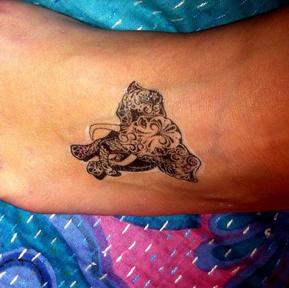17 best ideas about henna elephant tattoos on pinterest for Temporary elephant tattoo