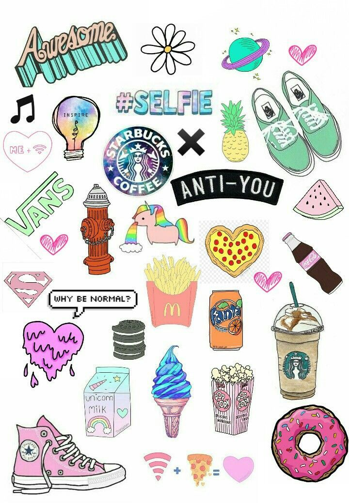It's just a graphic of Striking Aesthetic Printable Stickers