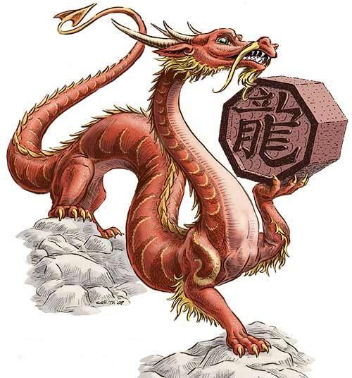 Uma versão do Mushu da Mulan, um pouco mais sério... Substituiria o talismã pelo selo imperial do Desenho.