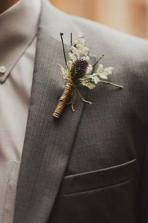 simple wedding boutonniere   see more fall wedding boutonnieres and corsages here: http://www.mywedding.com/articles/fall-wedding-boutonnieres-and-corsages/