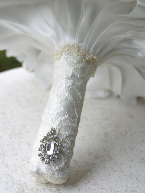 Deposit on Gold Silver Crystal Broach Bouquet Made by annasinclair, $75.00