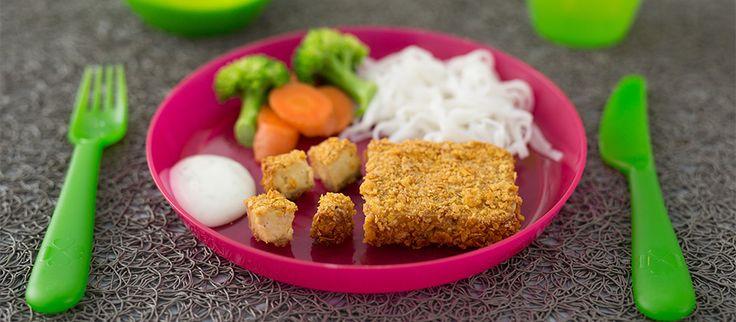 Tofu croustillant. Recette à faire avec votre enfant… et Chaminou!  #recette #enfants