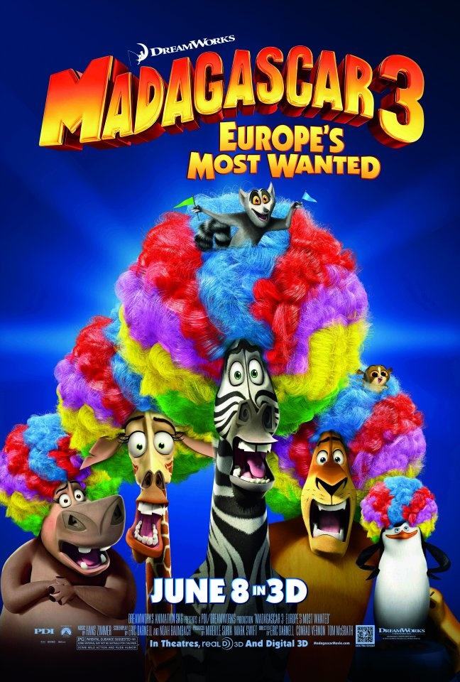 Madagascar 3: Europe's Most Wanted. unlike some other movies, when they make sequels, but they're never as good as the first one, the Madagascar movies never lost their cool! they are all so hilarious!