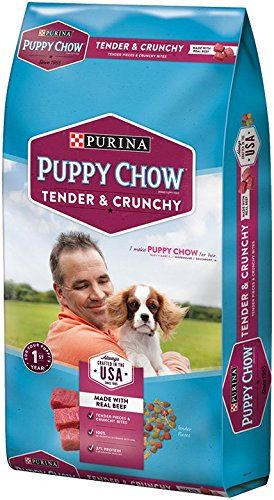 Purina Puppy Chow Tender and Crunchy Real Beef 4.4 LB Bag *** Read more reviews of the product by visiting the link on the image. (This is an affiliate link and I receive a commission for the sales)