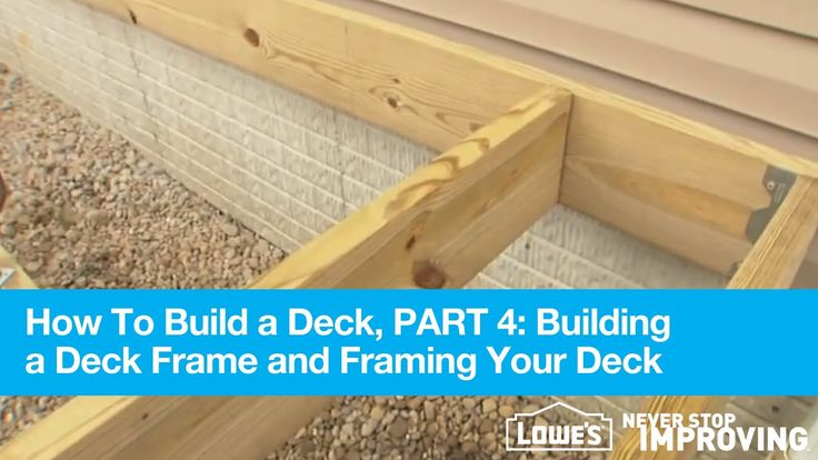 http://www.meganmedicalpt.com/ How To Build A Deck, Part 4: Building A Deck Frame And Framing Your Deck