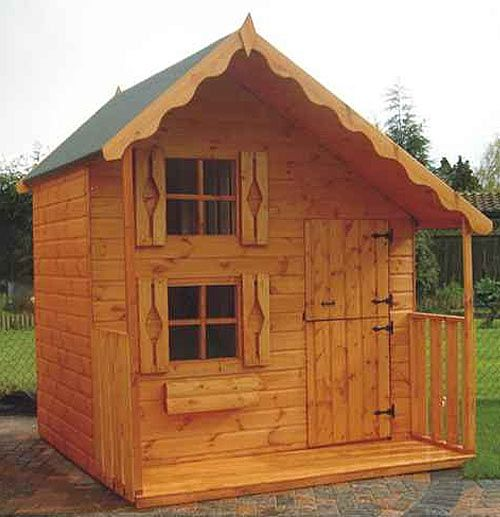 Cheap Wooden Playhouse for Sale | Deluxe Playden 5' x 7' - including Vat and Delivery*