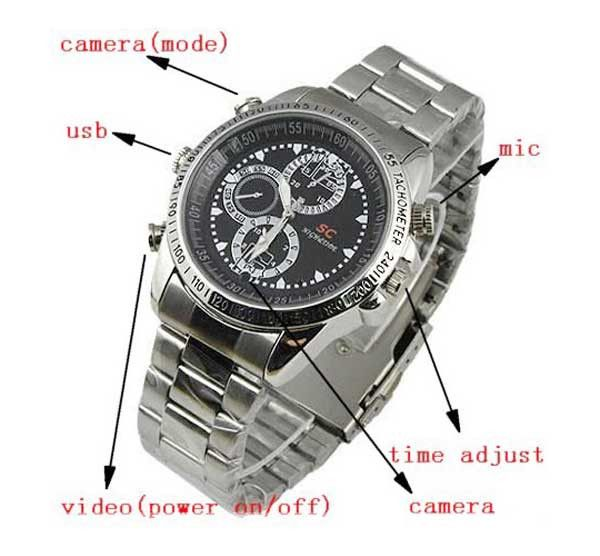 Secret Agent - Waterproof Spy Camera Watch 4GB Motion Detector