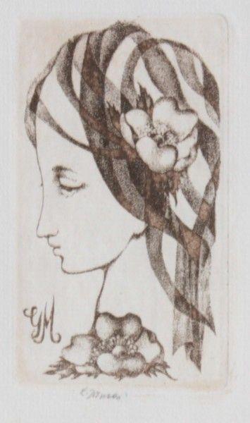Jiřincová Ludmila (1912-1994)  Hlava ženy
