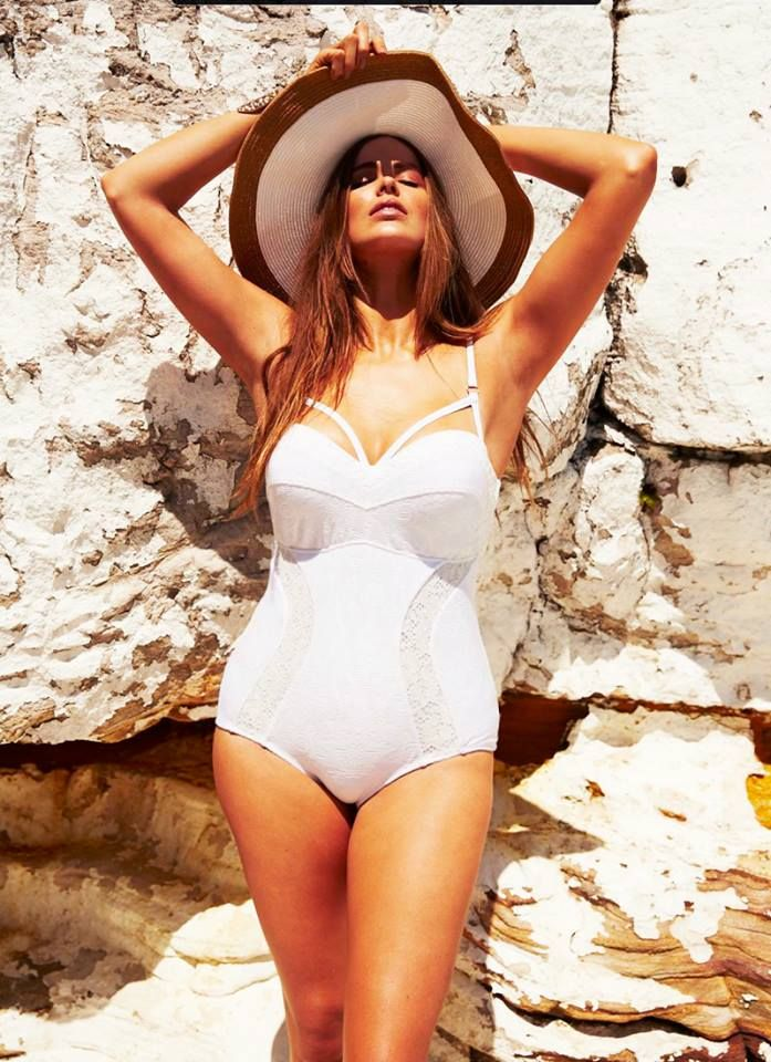 LOVING this white swimsuit!!!! >> Robyn Lawley Swimwear available August 2013 in sizes 10-20
