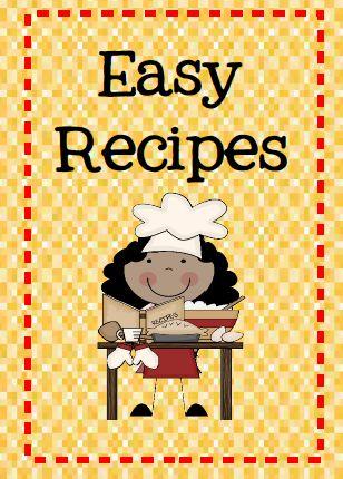 Easy recipes for busy teachers.