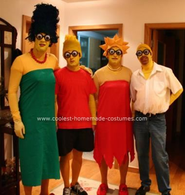 homemade simpsons family costume this website is the pinterest of costumes - Simpson Halloween Costume