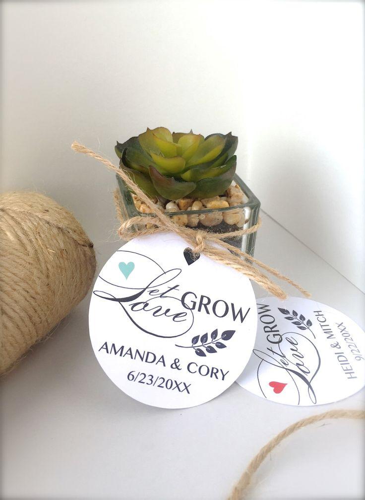 Wedding favor tags Let love grow tags