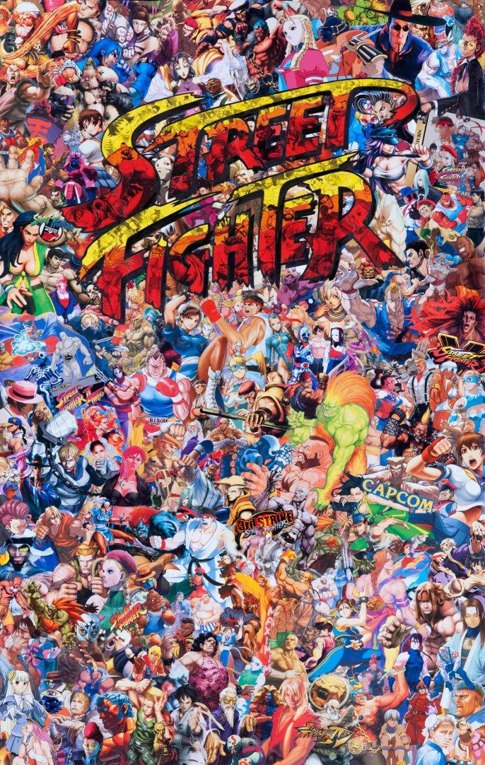 street fighter 115x70cm