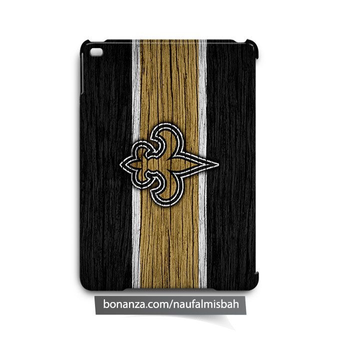 New Orleans Saints on Wood iPad Air Mini 2 3 4 Case Cover