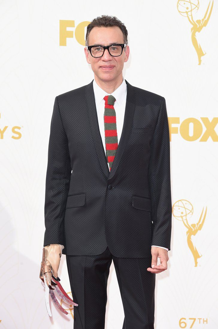 Pin for Later: Here's the Unusual Reason Fred Armisen Has a Freddy Krueger Hand at the Emmys  Full body shot.