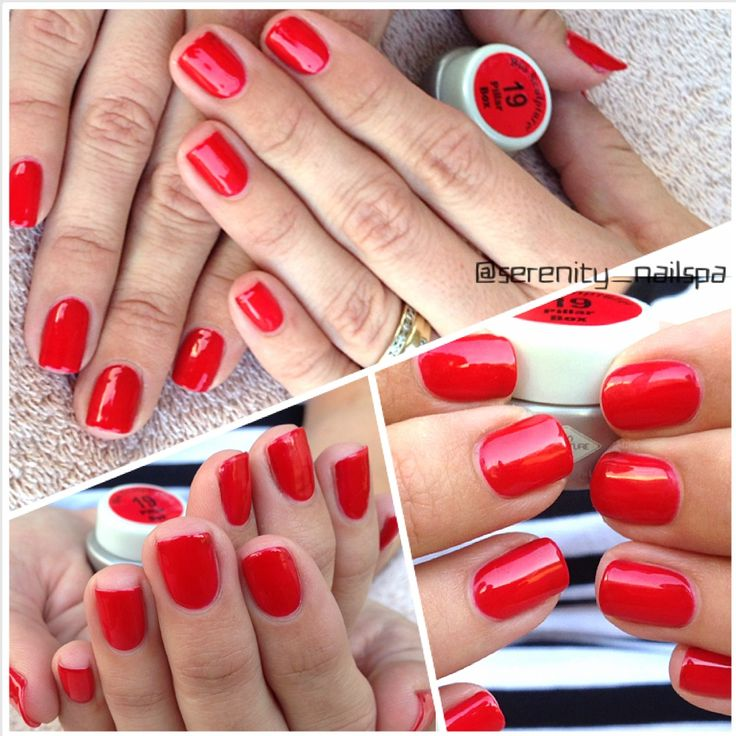 #19 Pillar Box Red. My first set of gel nails 2013
