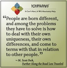 People are born different, and among the problems they have to solve is how to deal with their own uniqueness, their own differences, and come to terms with that in relation to other people. – M. Scott Peck, Further Along the Road Less Traveled
