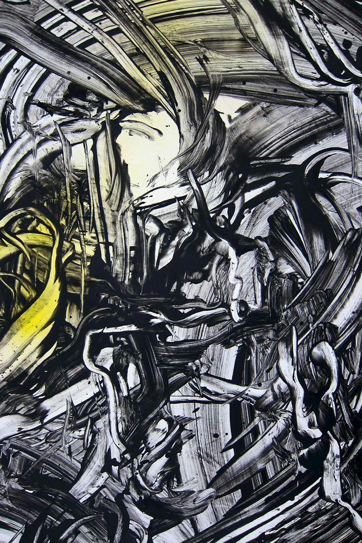 Acrylic and oil on canvas 75x34cm