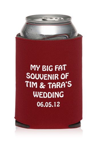 Custom Collapsible Wedding Can Cooler | KZW46 - Discount Mugs