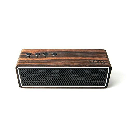 cool LSTN Apollo Ebony Wood Dual-Driver Portable Bluetooth Speaker with Built-in Microphone