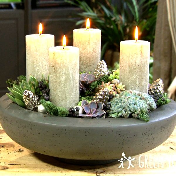 Advent met vetplanten