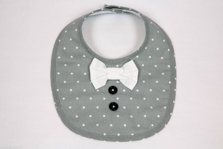 Excited to share the latest addition to my #etsy shop: Bib for a little baby boy http://etsy.me/2Cv8dDJ #clothing #children #baby #gray #babyshower #easter #white #bib #boy