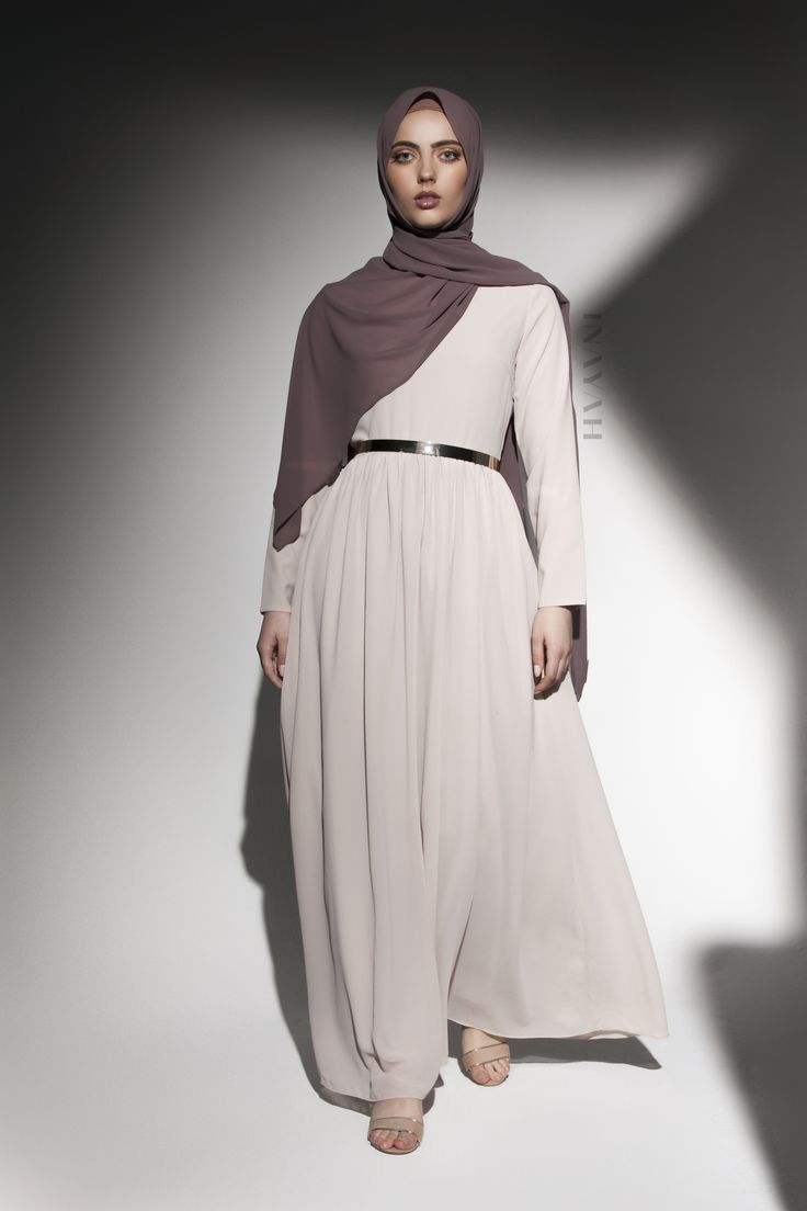 INAYAH   Elegance and class encompassed: Sand #Classic #Occasion #Gown + Dusty…