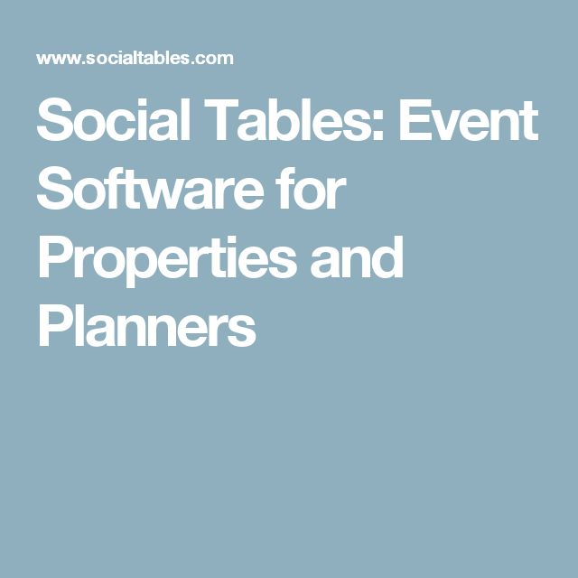 Social Tables: Event Software for Properties and Planners