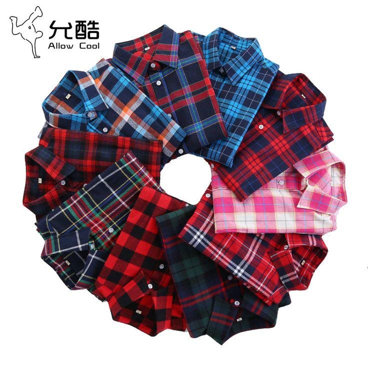 2017 Women's Fashion Plaid Shirt Female College style Blouses Long Sleeve Flannel Shirt Plus Size Cotton Blusas Office tops 5XL