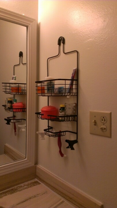 Use Your Shower Caddy To Clear The Clutter From Your Bathroom Counters.