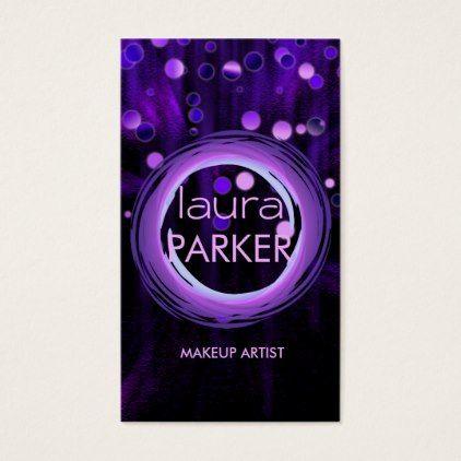 The 25 best makeup artist business cards ideas on pinterest makeup artist beauty glitter purple business card reheart Choice Image