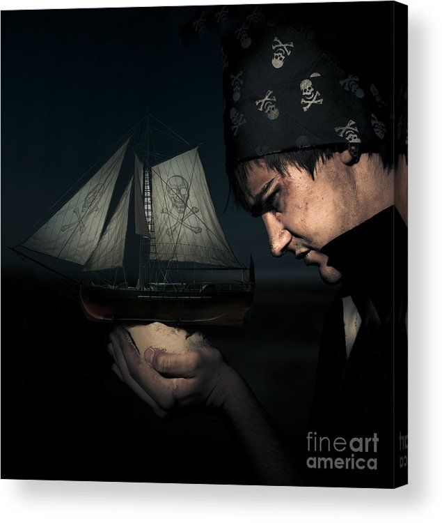 Pirates For The Dark Seas Acrylic Print featuring the photograph Pirate by Jorgo Photography - Wall Art Gallery