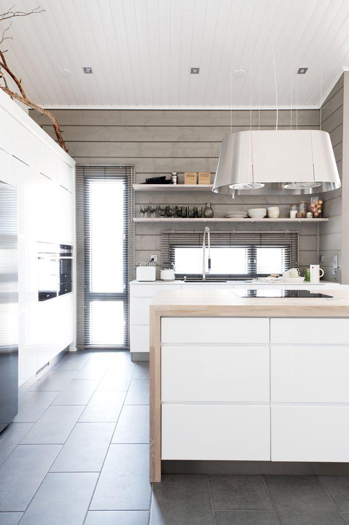 Grey, white, timber