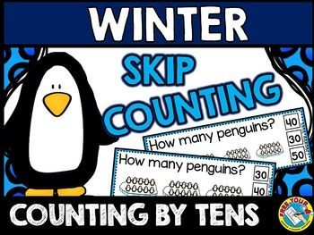 #PENGUINS #SKIP #COUNTING #TASK #CARDS: #COUNTING #BY #TENS